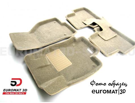 Текстильные 3D коврики Euromat3D Business в салон для Bmw 5 (F10) (2010-2013) № EMC3D-001205T Бежевые
