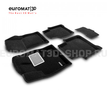 Текстильные 3D коврики Euromat3D Lux в салон для Skoda Kodiaq (2017-) № EM3D-004512
