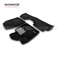 Текстильные 3D коврики Euromat3D Premium в салон для Kia Sorento Prime (2015-) № EMPR3D-002925