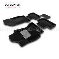 Текстильные 3D коврики Euromat3D Premium в салон для Subaru Forester (2012-2018) № EMPR3D-004709