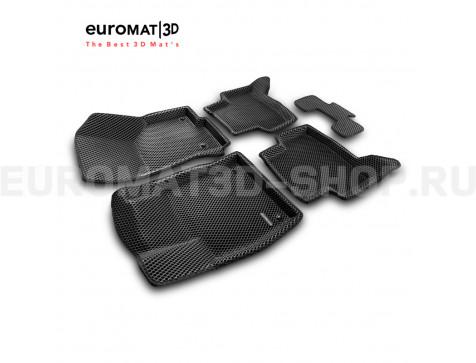 3D коврики Euromat3D EVA в салон для Audi A3 (2014-) № EM3DEVA-004507