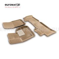 Текстильные 3D коврики Euromat3D Lux в салон для Land Rover Range Rover Vogue (2002-2012) № EM3D-003105T Бежевые
